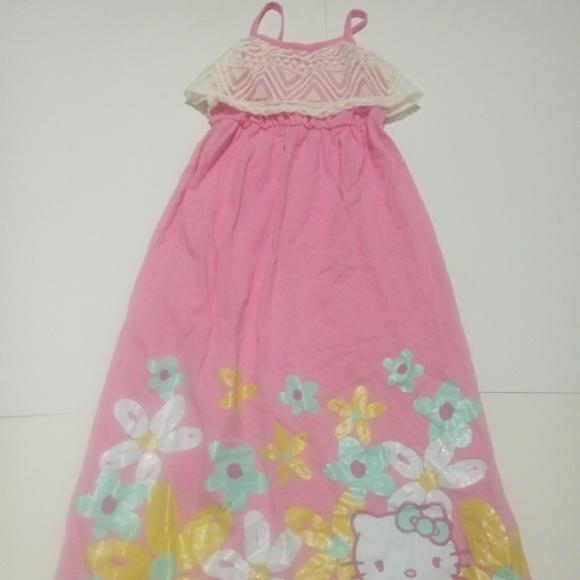 5c9b4d08f Hello Kitty Dresses | Nwt Pink White Summer Dress 66x | Poshmark
